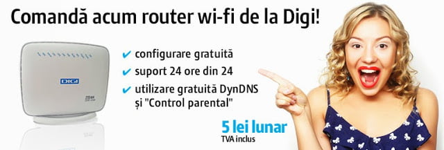 CPE Router H218N (ZTE) cum comand router RCS RDS DigiNet