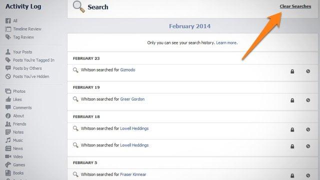 Cum sa iti stergi istoricul de pe Facebook