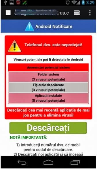 Intri pe internet de pe telefon Scareware-telefon-gadgetreport