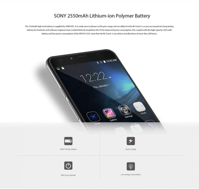 ulefone betouch 3 baterie